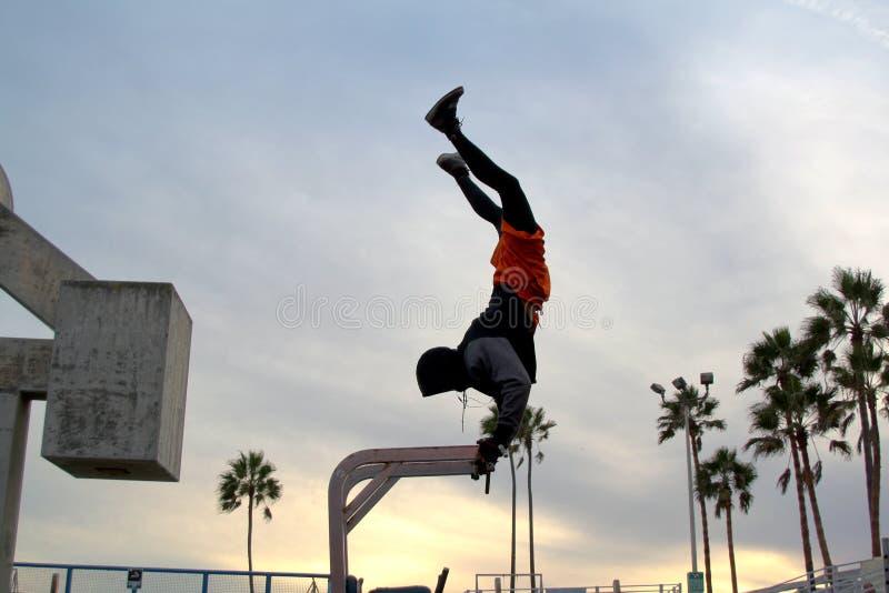 Άσκηση και αθλητισμός στην παραλία της Αφροδίτης ΗΠΑ 2016 στοκ εικόνα