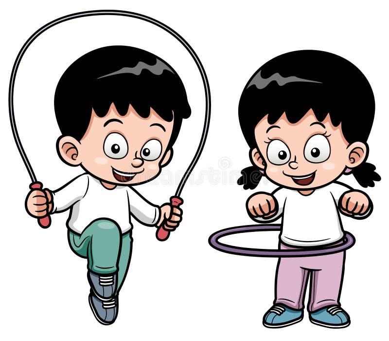 Άσκηση παιδιών ελεύθερη απεικόνιση δικαιώματος