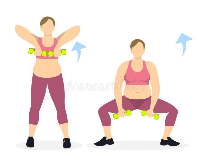 Άσκηση στάσεων οκλαδόν για τα πόδια απεικόνιση αποθεμάτων