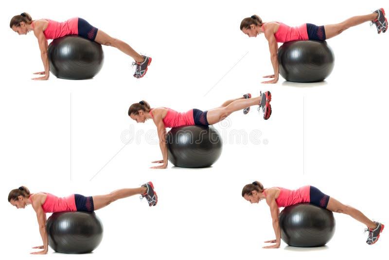Άσκηση σφαιρών σταθερότητας στοκ φωτογραφία με δικαίωμα ελεύθερης χρήσης