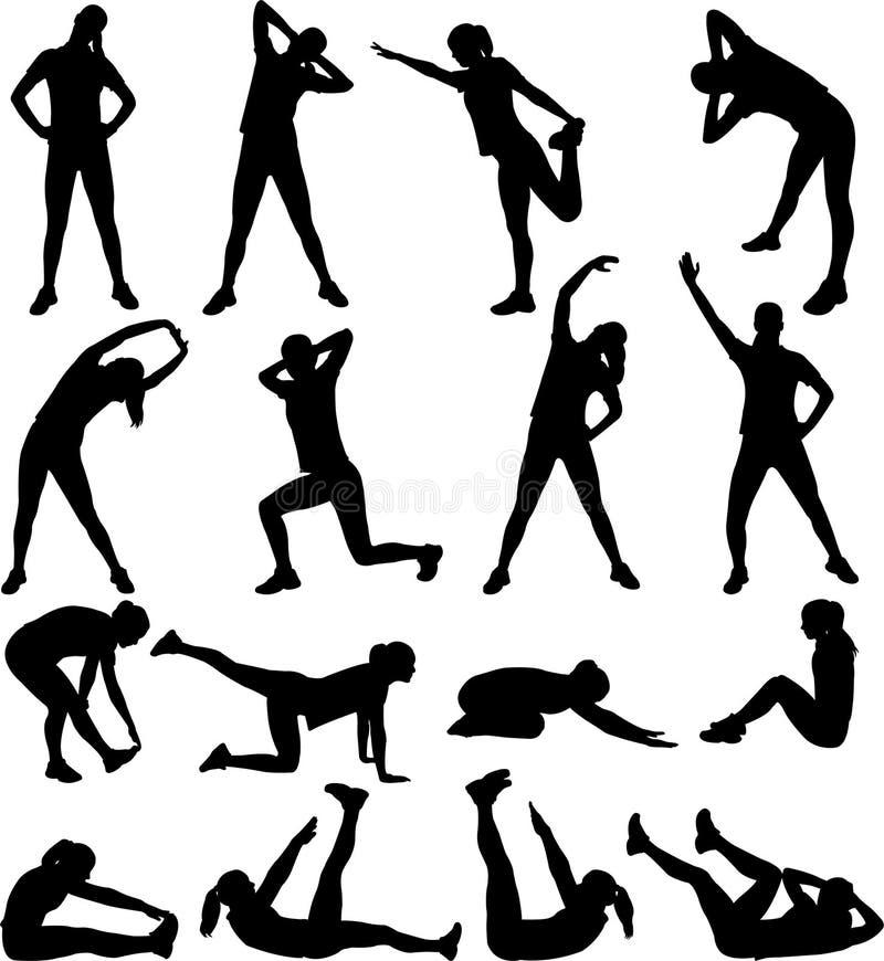 άσκηση της γυναίκας διανυσματική απεικόνιση