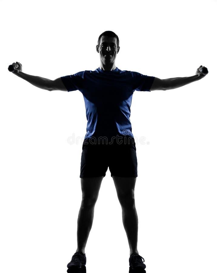άσκηση του ατόμου workout στοκ φωτογραφίες