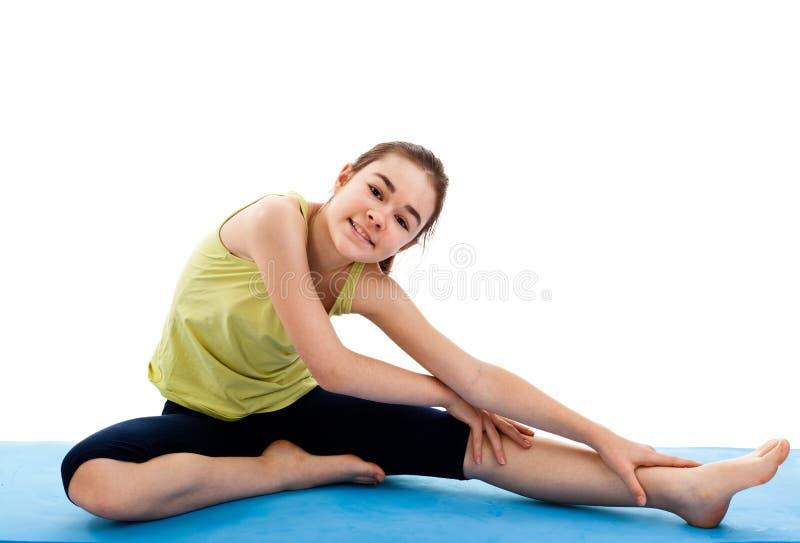 άσκηση του κοριτσιού στοκ φωτογραφίες