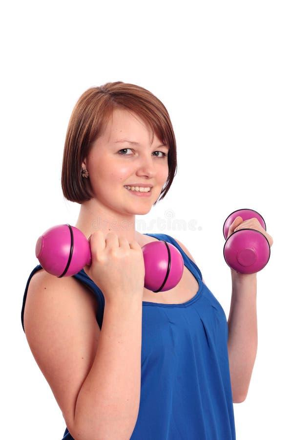 άσκηση prettty εφηβικού κοριτσ& στοκ φωτογραφία με δικαίωμα ελεύθερης χρήσης