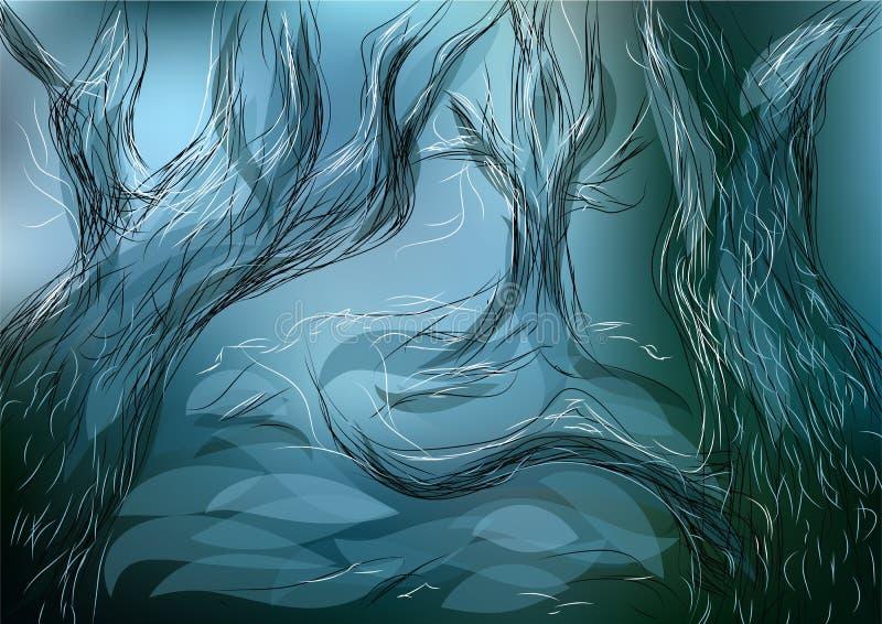 δάσος που χάνεται ελεύθερη απεικόνιση δικαιώματος