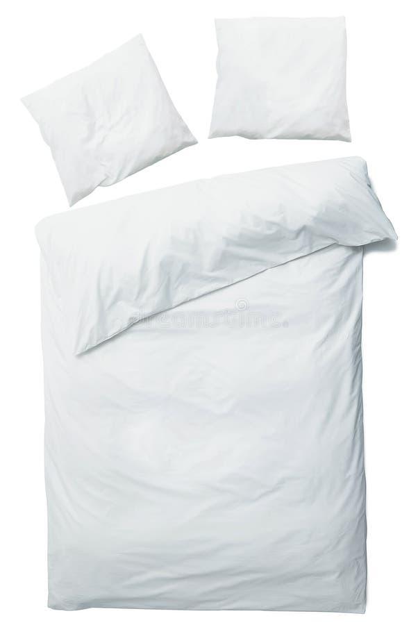 Άσπρα κάλυμμα και μαξιλάρια στοκ εικόνες
