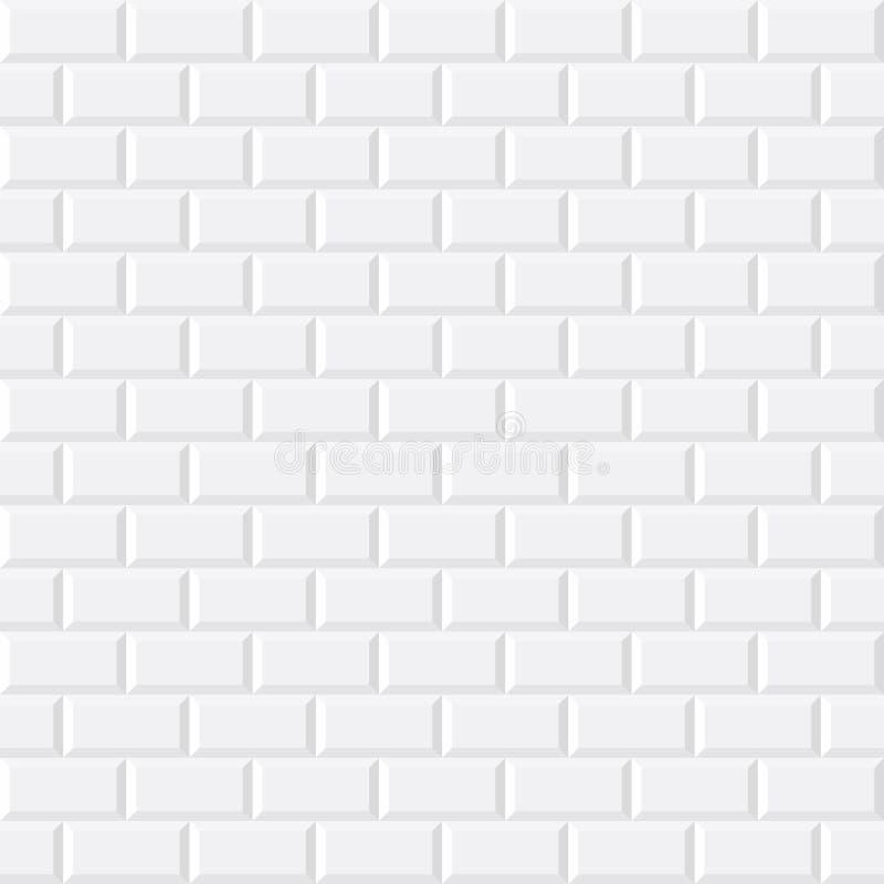 Άσπρα κεραμίδια, κεραμικού πλίνθου διανυσματική απεικόνιση