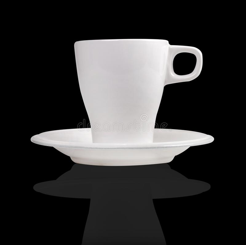 Άσπρα κούπα και πιατάκι καφέ πορσελάνης στοκ εικόνες με δικαίωμα ελεύθερης χρήσης