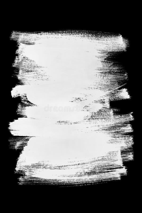 Άσπρα κτυπήματα βουρτσών διανυσματική απεικόνιση