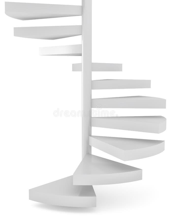 Άσπρα σκαλοπάτια πέρα από το αφηρημένο υπόβαθρο απεικόνιση αποθεμάτων