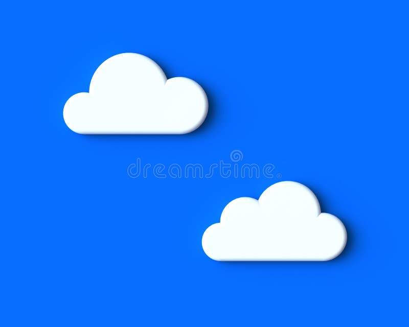 Άσπρα σύννεφα στο μπλε ουρανό απεικόνιση αποθεμάτων