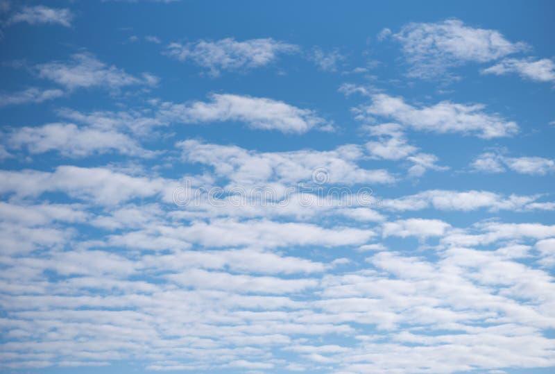 Άσπρα σύννεφα σωρειτών ενάντια σε έναν μπλε ουρανό στοκ εικόνα