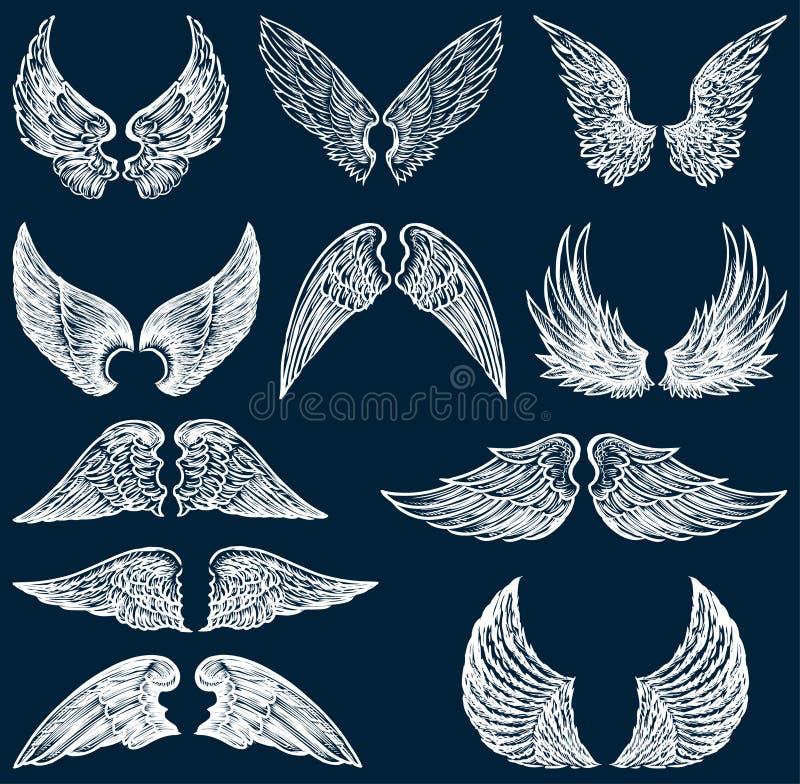 Άσπρα φτερά ελεύθερη απεικόνιση δικαιώματος