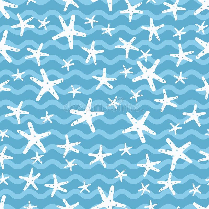 Άσπρα ψάρια αστεριών στον μπλε ωκεανό στοκ φωτογραφία με δικαίωμα ελεύθερης χρήσης