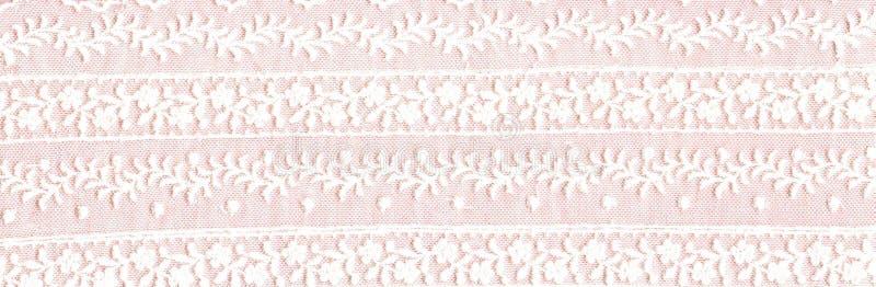 Άσπρα floral σύνορα δαντελλών απεικόνιση αποθεμάτων