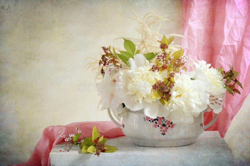Άσπρα peonies στοκ φωτογραφίες