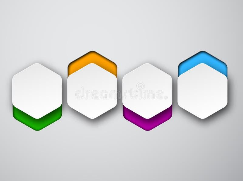 Άσπρες εξαγωνικές σημειώσεις εγγράφου απεικόνιση αποθεμάτων