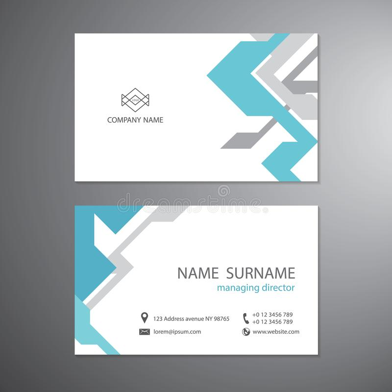 Άσπρες επαγγελματικές κάρτες καθορισμένες το πρότυπο το διανυσματικό σχέδιο ελεύθερη απεικόνιση δικαιώματος