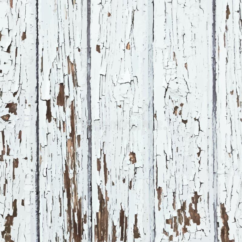 Άσπρες ξεφλουδισμένες σανίδες ελεύθερη απεικόνιση δικαιώματος