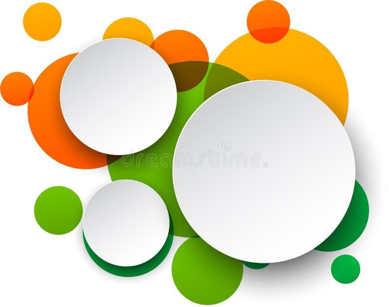 Άσπρες στρογγυλές λεκτικές φυσαλίδες εγγράφου. διανυσματική απεικόνιση