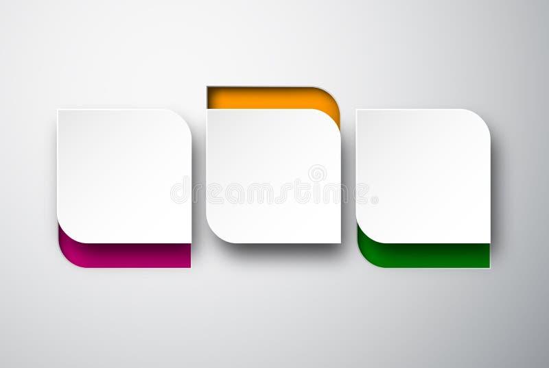 Άσπρες στρογγυλευμένες σημειώσεις εγγράφου απεικόνιση αποθεμάτων