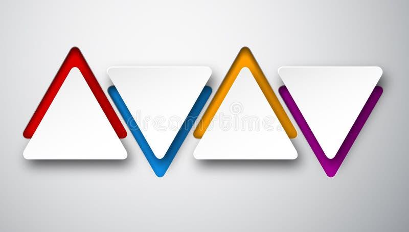 Άσπρες τριγωνικές σημειώσεις εγγράφου ελεύθερη απεικόνιση δικαιώματος