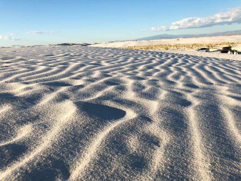 Άσπρη άμμος φύσης στο Νέο Μεξικό στοκ φωτογραφία
