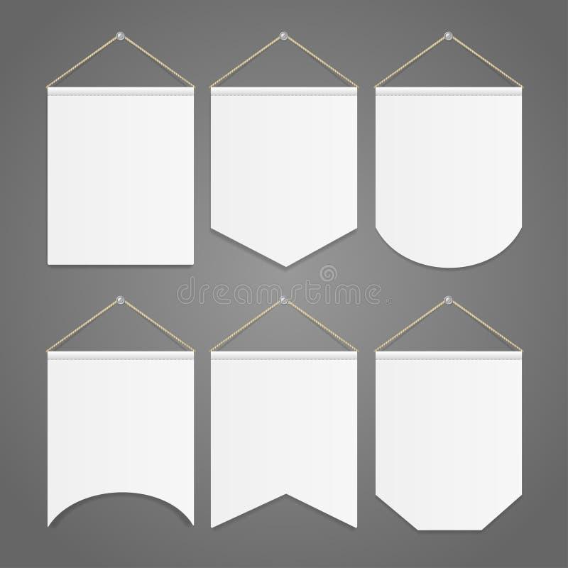 Άσπρη ένωση προτύπων σημαιών στο σύνολο τοίχων διάνυσμα απεικόνιση αποθεμάτων