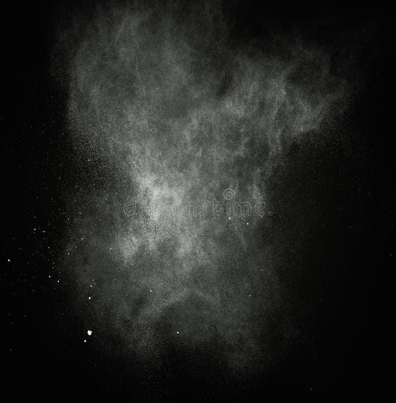 Άσπρη ανατίναξη σκονών στοκ εικόνες