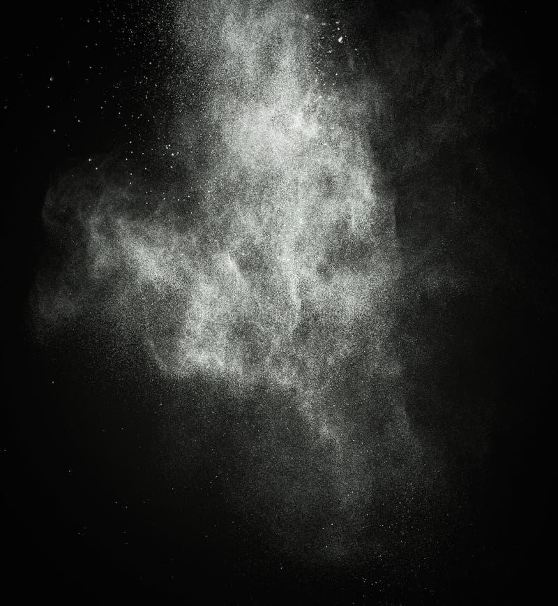 Άσπρη ανατίναξη σκονών στοκ φωτογραφία