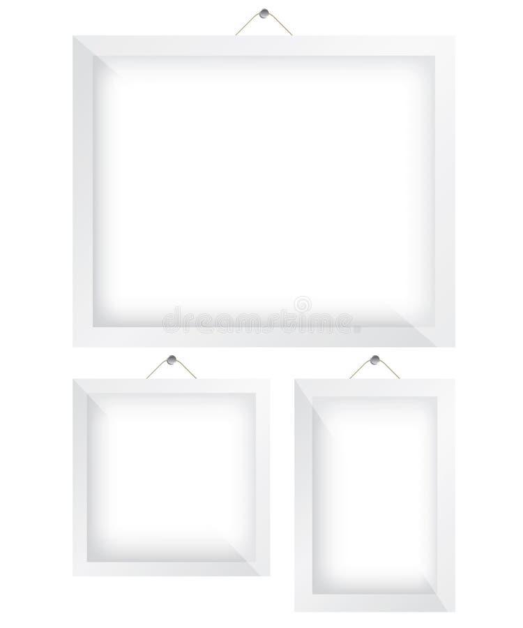 Άσπρη απεικόνιση πλαισίων ελεύθερη απεικόνιση δικαιώματος