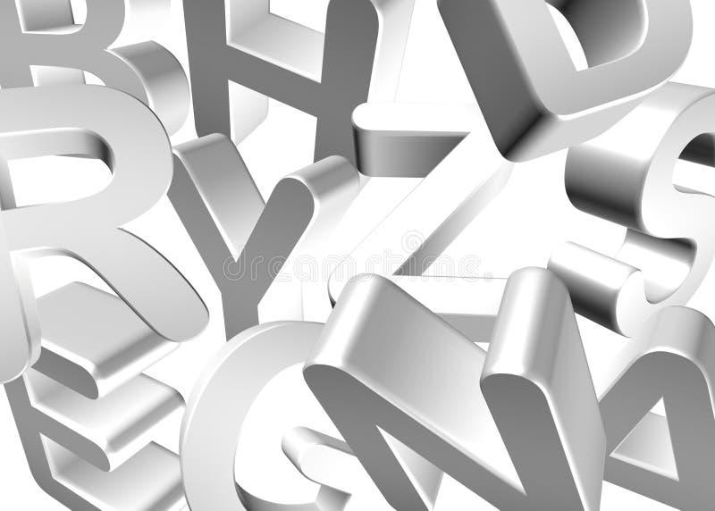 Άσπρη/ασημένια τυπογραφία επιστολών διανυσματική απεικόνιση