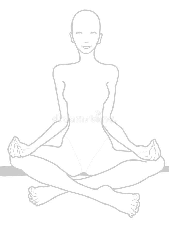 άσπρη γιόγκα hatha chakra απεικόνιση αποθεμάτων