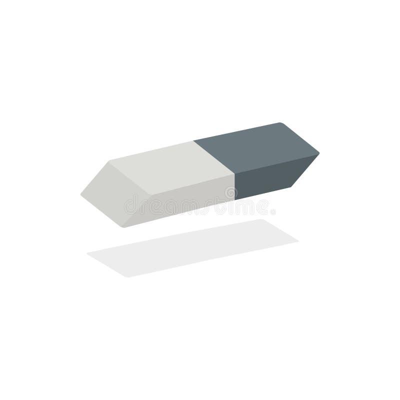 Άσπρη γόμα με το μπλε διάνυσμα περιτυλιγμάτων στο απομονωμένο άσπρο υπόβαθρο διανυσματική απεικόνιση