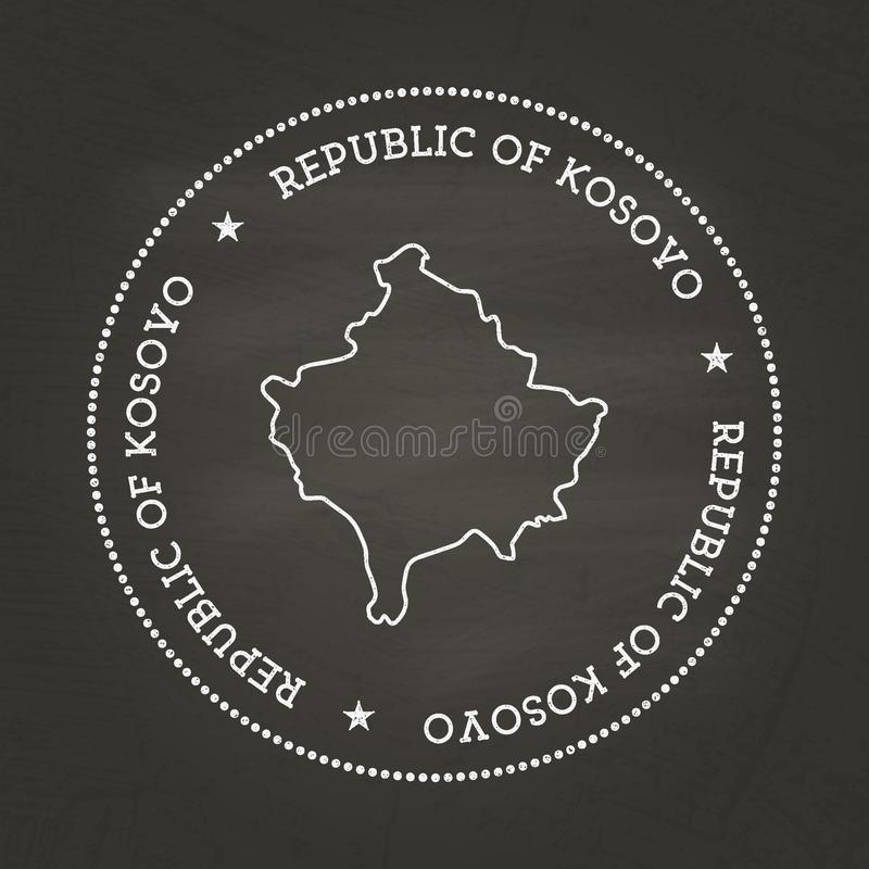 Άσπρη εκλεκτής ποιότητας σφραγίδα σύστασης κιμωλίας με τη Δημοκρατία απεικόνιση αποθεμάτων