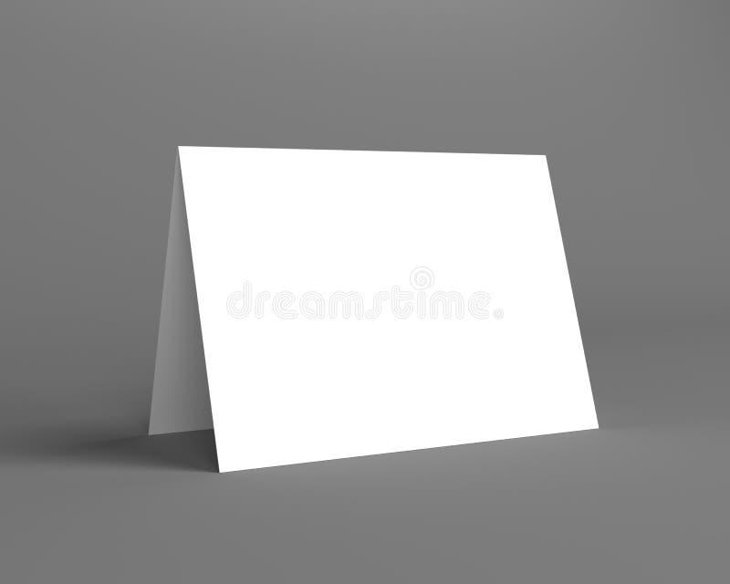 Άσπρη επίδειξη γραφείων στο γκρίζο υπόβαθρο απεικόνιση αποθεμάτων