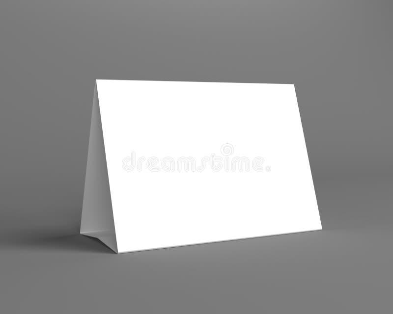 Άσπρη επίδειξη γραφείων στο γκρίζο υπόβαθρο διανυσματική απεικόνιση