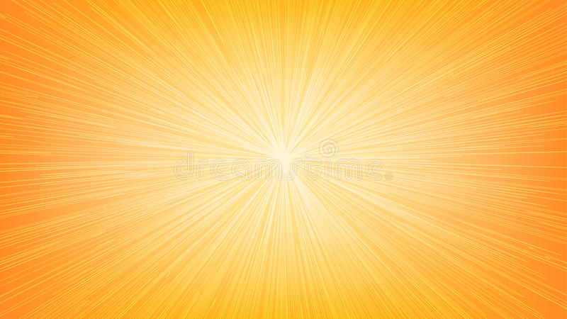 Άσπρη ελαφριά έκρηξη Ray γραμμών ταχύτητας στο πορτοκαλί υπόβαθρο διανυσματική απεικόνιση