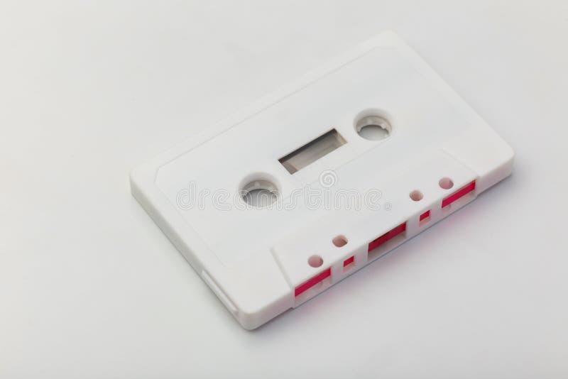 Άσπρη ηχητική κασέτα στοκ φωτογραφίες
