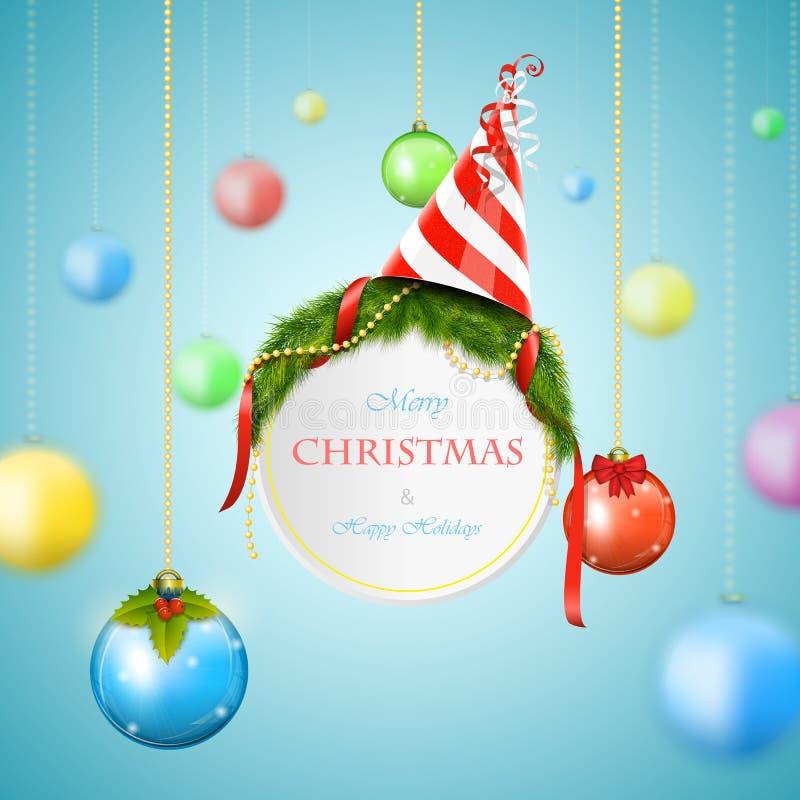 Άσπρη διανυσματική απεικόνιση πινάκων διαφημίσεων Χριστουγέννων ελεύθερη απεικόνιση δικαιώματος