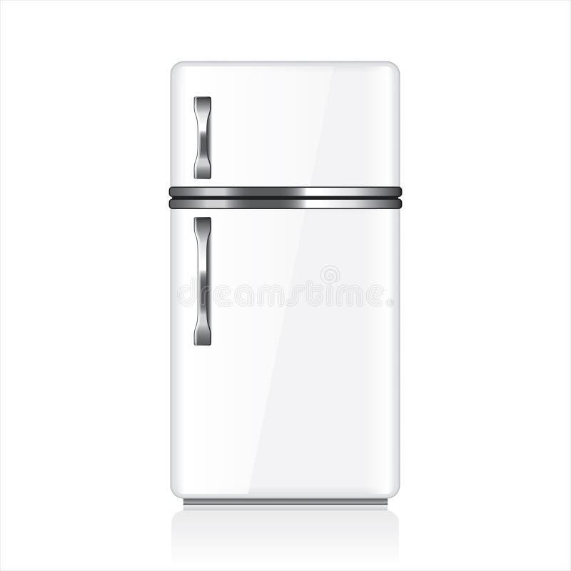 Άσπρη διανυσματική απεικόνιση ψυγείων ελεύθερη απεικόνιση δικαιώματος