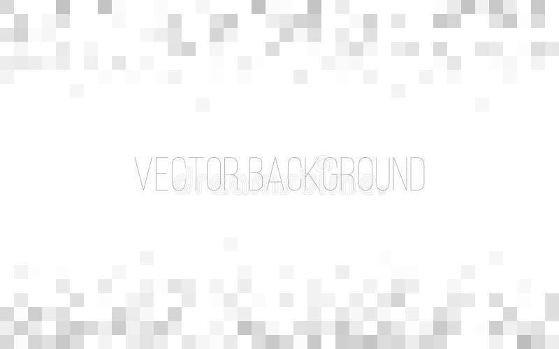 Άσπρη και γκρίζα γεωμετρική σύσταση αφηρημένη ανασκόπηση Τετραγωνικό σκηνικό μωσαϊκών εικονοκυττάρου Υπόβαθρο ιστοχώρου ή διαφήμι διανυσματική απεικόνιση