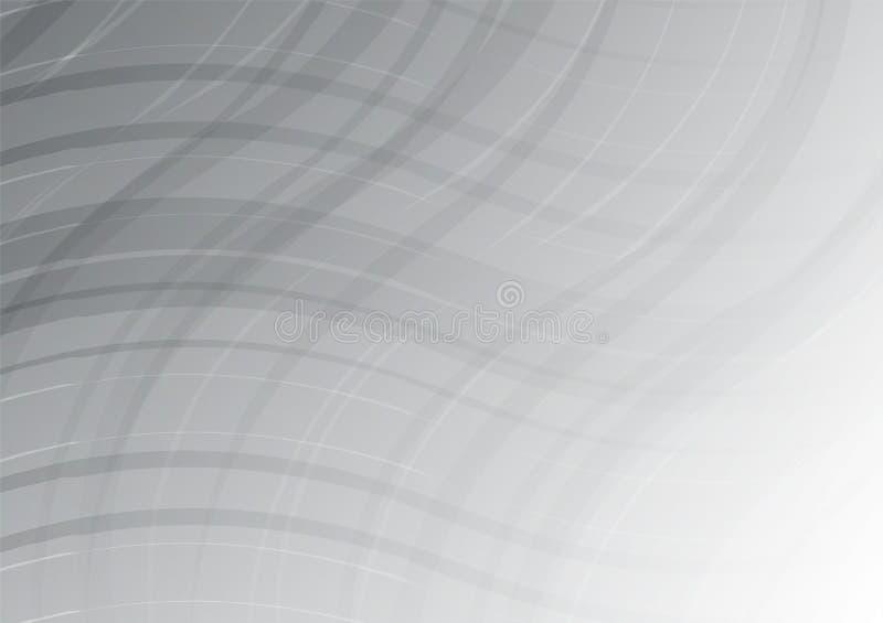Άσπρη και γκρίζα περίληψη χρώματος κυμάτων γεωμετρική για το επιχειρησιακό υπόβαθρο επίσης corel σύρετε το διάνυσμα απεικόνισης ελεύθερη απεικόνιση δικαιώματος