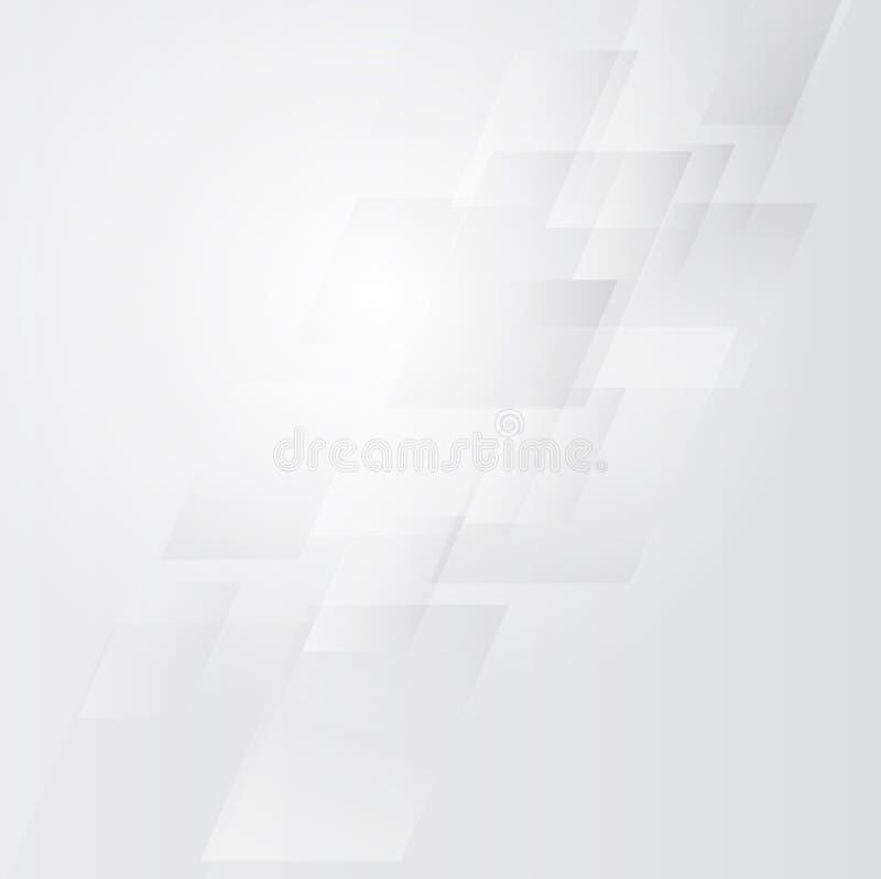 Άσπρη και γκρίζα τεχνολογία υποβάθρου αφηρημένη ανασκόπηση ελεύθερη απεικόνιση δικαιώματος