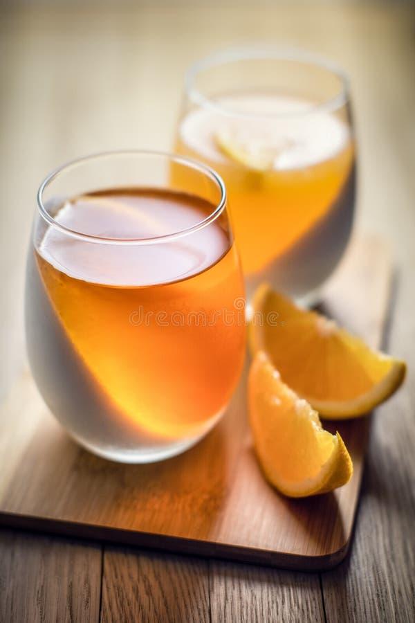 Άσπρη και πορτοκαλιά ζελατίνα φρούτων στοκ φωτογραφία με δικαίωμα ελεύθερης χρήσης