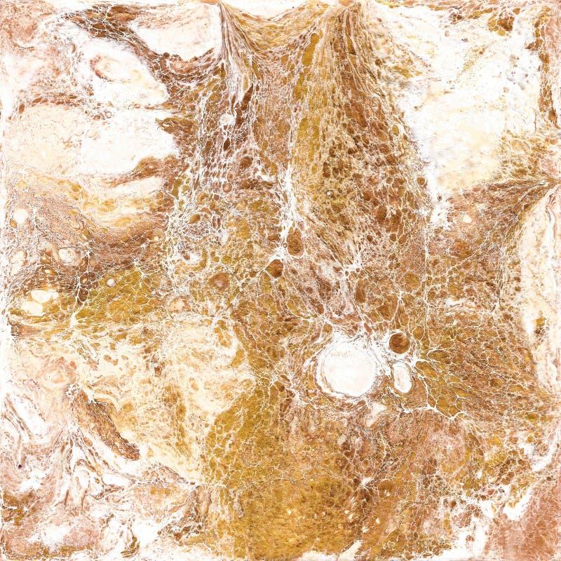 Άσπρη και χρυσή μαρμάρινη σύσταση Το χέρι σύρει τη ζωγραφική με τη σύσταση και τα χρώματα χρυσού και χαλκού Χρυσό μάρμαρο στοκ φωτογραφίες με δικαίωμα ελεύθερης χρήσης