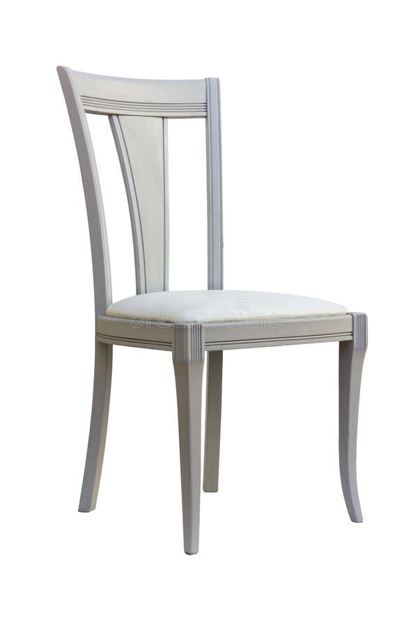 Άσπρη καρέκλα τεχνών στοκ φωτογραφία με δικαίωμα ελεύθερης χρήσης