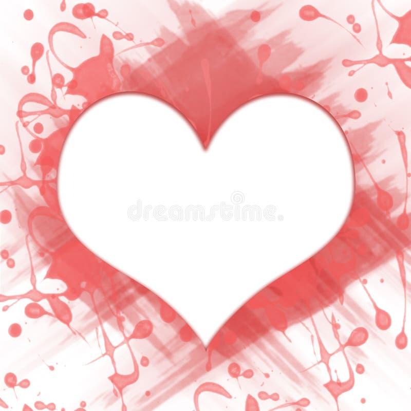 Άσπρη καρδιά στον παφλασμό του χρώματος στοκ φωτογραφίες με δικαίωμα ελεύθερης χρήσης