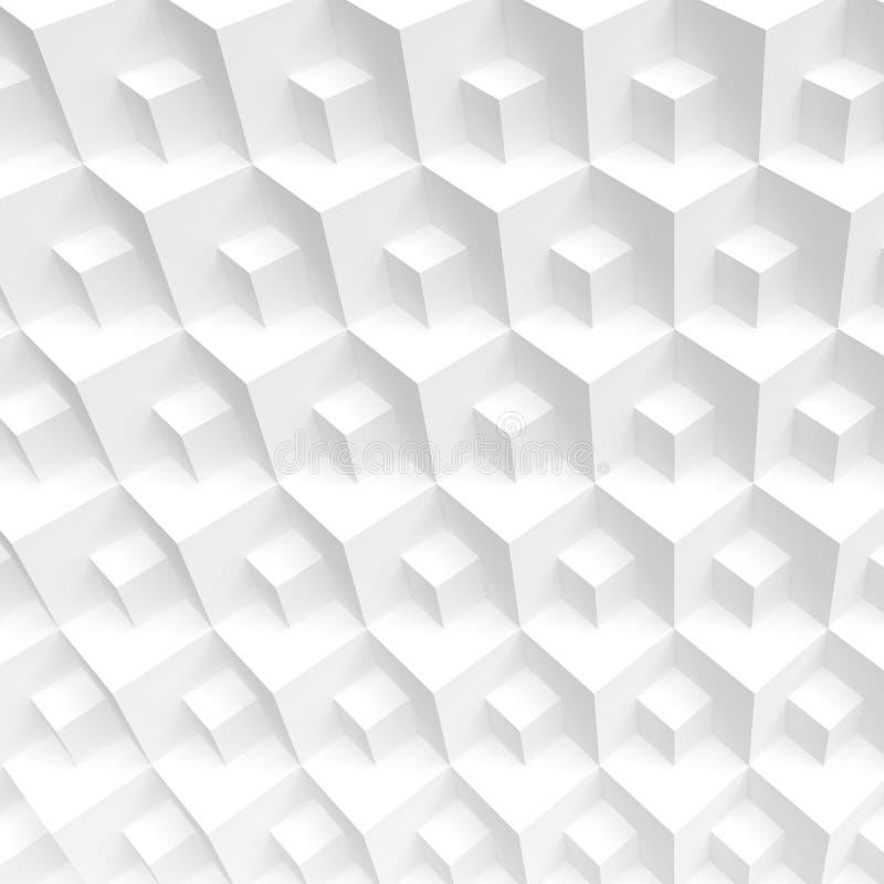 Άσπρη κατασκευή κύβων Δημιουργικό βιομηχανικό σχέδιο Σύγχρονο τόξο απεικόνιση αποθεμάτων