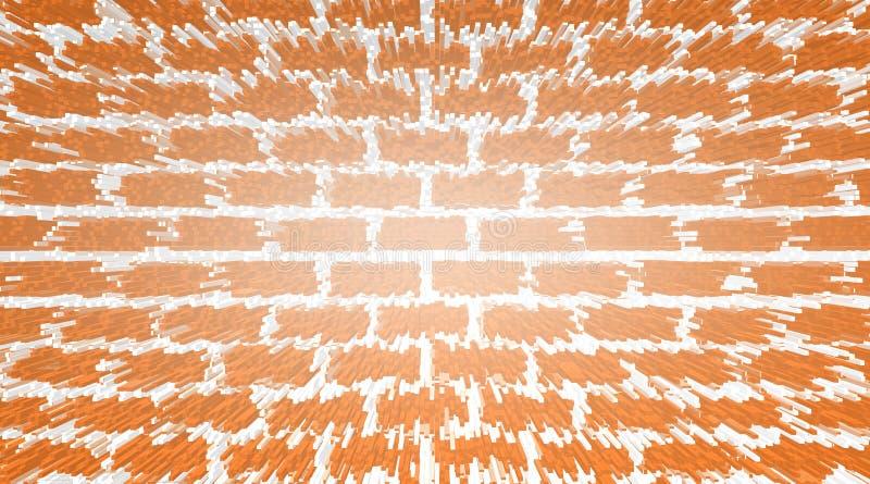 Άσπρη καφετιά οθόνη, αφηρημένη γραφική παράσταση, μικρά blogs διανυσματική απεικόνιση